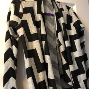 Chevron sweater cardigan